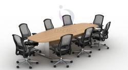 Mesa de Reunião Diretoria semi oval